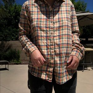 90's Urban Outfitters Plaid Button-down
